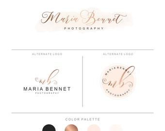 Brand identity, Premade Logo and Watermark, Branding, Watercolor Premade Logo