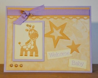 Welcome Baby Giraffe Greeting Card