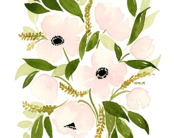Blush Poppies INSTANT DOWNLOAD