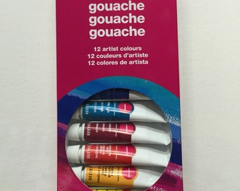 Gouache Colours, Set of 12 - 10ml paints by Reeves