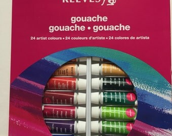 Gouache Colours Set of 24 x 10 ml Paints by Reeves