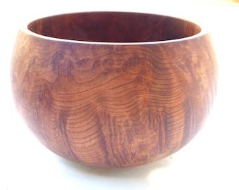Turned Redwood Burl Bowl