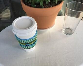 Peace Beverage Sleevie (blue/green)