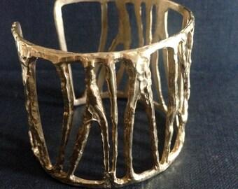 Zebra bronze bracelet