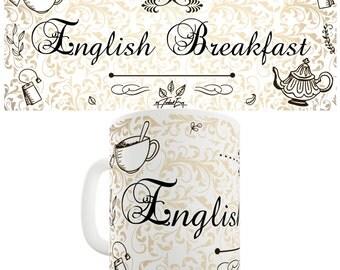 Decorative English Breakfast Tea Ceramic Mug