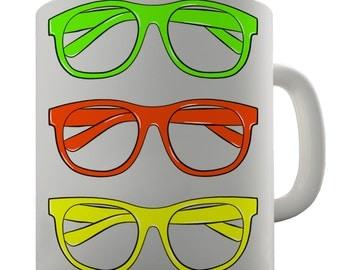 Coloured Glasses Ceramic Funny Mug