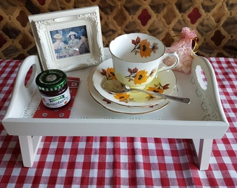 Afternoon tea tray teacup candle gift set