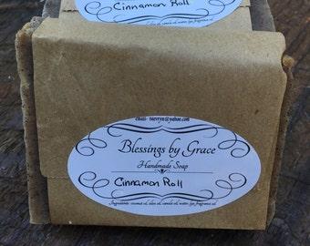 Handmade soap- Cinnamon Roll cold process soap