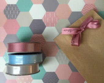 Ribbon satin for gift wrapping