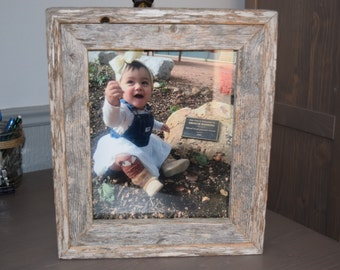 Reclaimed weathered wood Frame