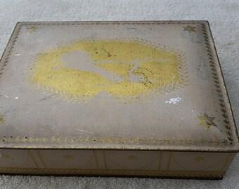 Art Deco Tin 9x11 Vanity Gift box