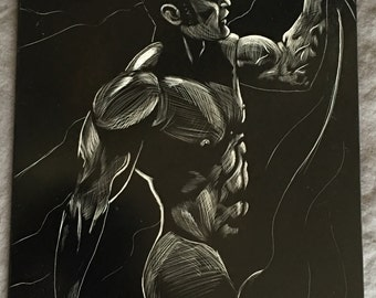 Scratch board muscle