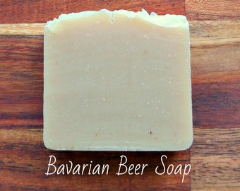 SOAP - Bavarian Beer Soap - Natural soap, Organic soap, Vegan soap, Rustic soap, Artisan soap, Handmade soap