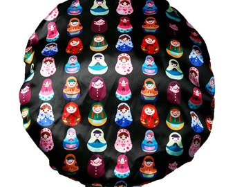 Babushka Luxury MICROFIBRE Lined Waterproof Shower Caps Ultra Protective Comfortable  Bath Hat Adults / Teenagers / Kids