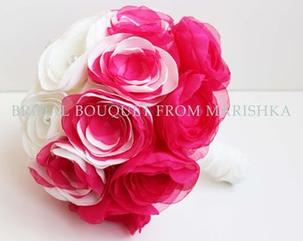 Brooch bridal bouquet pink