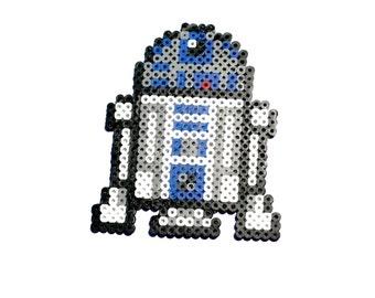 R2D2 Perler Bead, R2D2, Perler, Perler Bead, Pixel, Star Wars, Pixel Art, 8 Bit, Retro, Gamer, Nerd, Geek, Magnet, Keychain, 8 Bit Art, R2