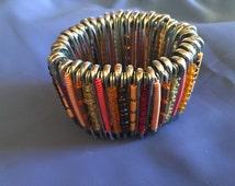 80's Safety Pin beaded bracelet