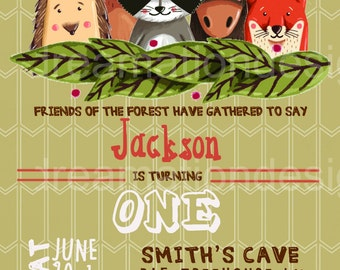 Forest Friends Invitations