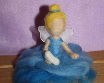 Princess Cinderella inspired needle felt fairy