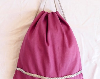 Bag Rosé with Silver trim