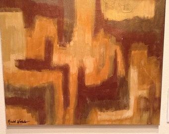 Copper Tones Abstract Original Painting