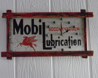 Antique Mobil Lubrication Man Cave sign