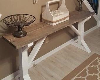 County/Rustic Sofa table
