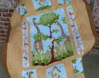 Zoe the Giraffe quilt