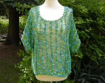 Knitted shirt sweater shirt top Gr. 38-42