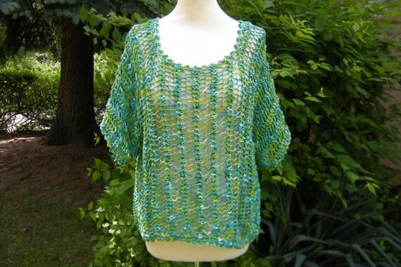 Knitted shirt sweater shirt top Gr. 38-42