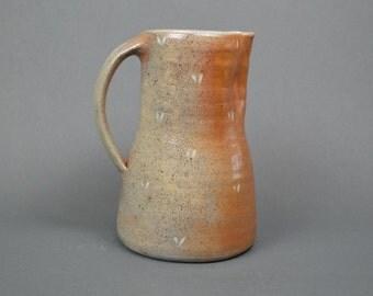 Jug, wood fired stoneware