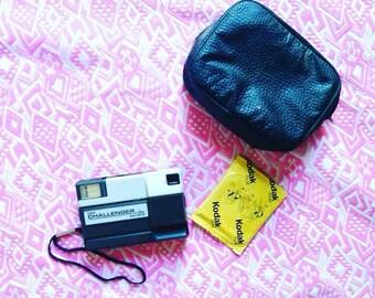 Vintage Kodak Tele Challenger Disc Camera, Vintage Point and shoot camera