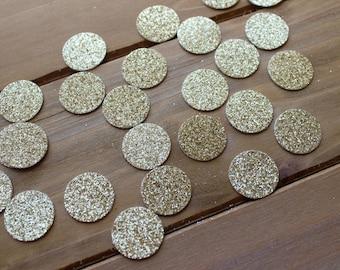 Gold Glitter Round Confetti