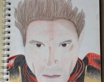 IRON MAN colour pencil drawing