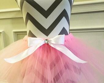 Baby pink and white tutu sparkle tutu newborn tutu birthday tutu