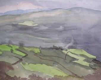 Mondaino Italy (2014), Original Watercolor Painting