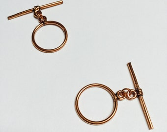 Large Copper Toggle Clasp - 4 Sets  - #334