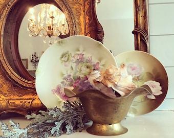 Vintage Brass Wave Bowl