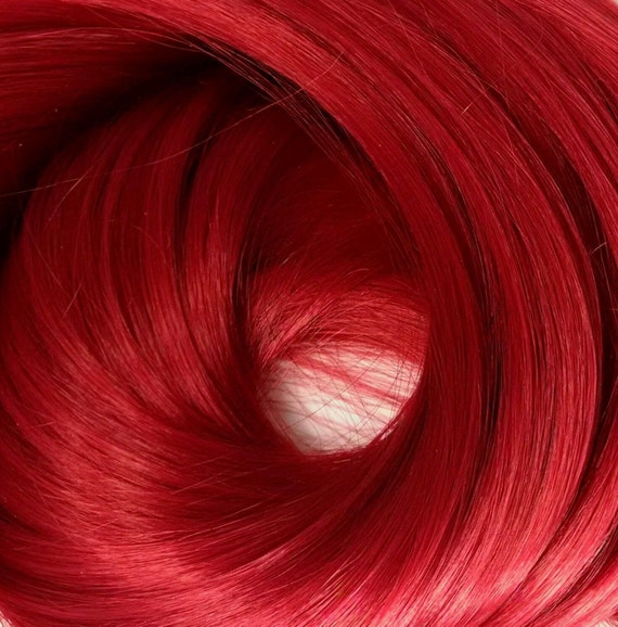 Daredevil Dark Red Nylon Doll Re-rooting Hair Hank for Barbie, Monster High, Ever After, Integrity, Blythe, Rehair My Little Pony Intl Ship