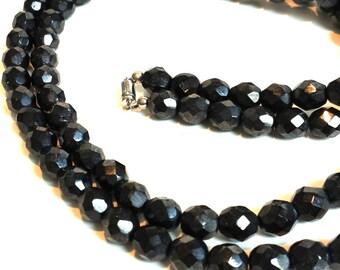 "Vintage Hemitite Bead Necklace 30"""