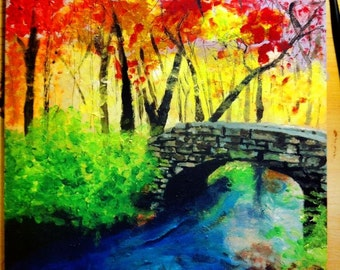Rainbow Way, Acrylic and Ink Painting