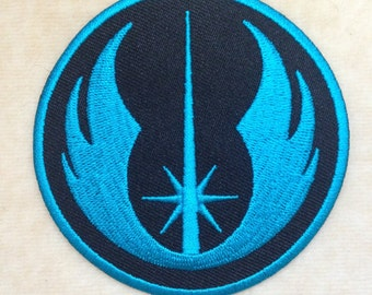 New Jedi Order Logo Iron On Patch #Blue
