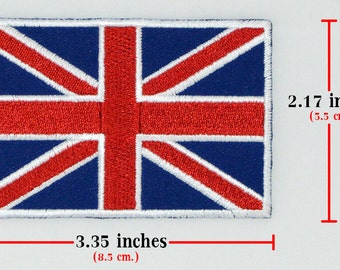 1 pcs. England Flag Embroidered Iron on Patches.