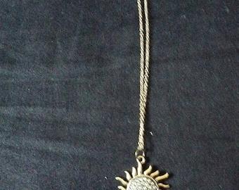 Vintage inspired Golden Sun Necklace