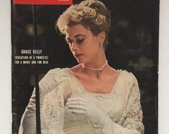 RARE Collectible Original 1956 LIFE Magazine Grace Kelly Cover