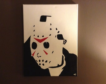"Jason Voorhees 12x16"" hand painted canvas"