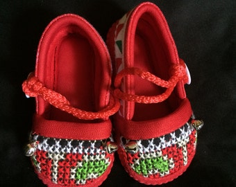 Hilltribe Baby Flats, red