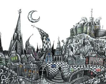 "ArtWork Titled ""Edinburgh Castle"""