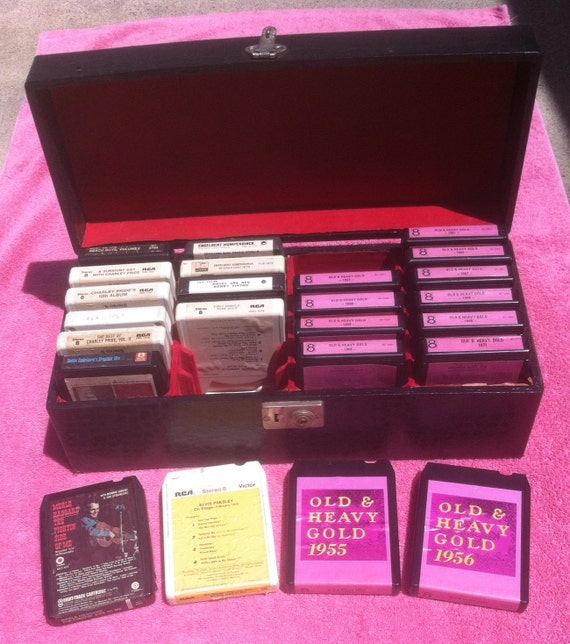 Inside Of A 8 Track Tape: Vintage Lot Of 24 8 Track Tapes In A Nice Vintage 8 Track Tape