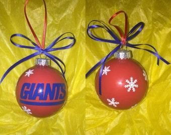 Ny giants ornament   Etsy